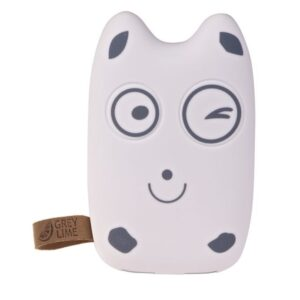 GreyLime Power Owl, 7800 mAh powerbank, Hvid Happy Face