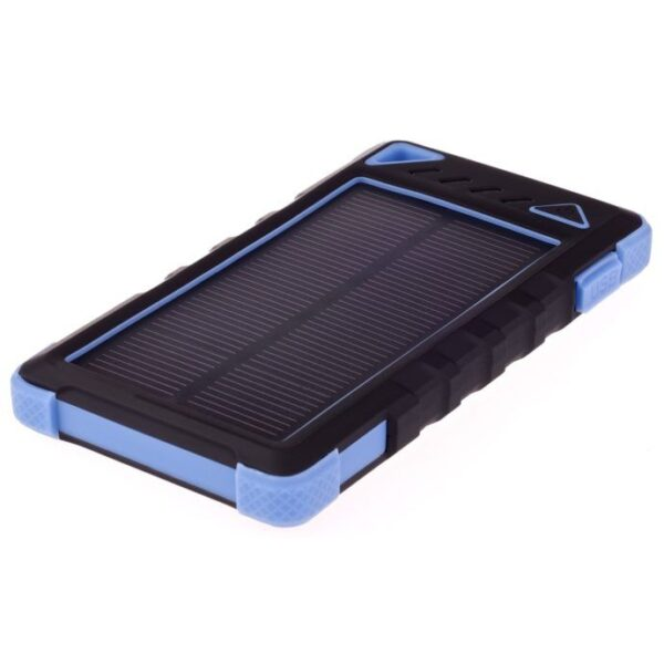 GreyLime Power Solar, 8000 mAh solcelle powerbank, Blå