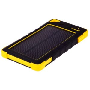 GreyLime Power Solar, 8000 mAh solcelle powerbank, Gul