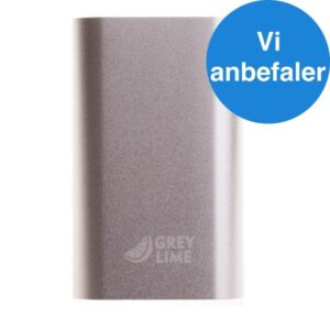 GreyLime Power Tough, 5200 mAh powerbank, Sølv