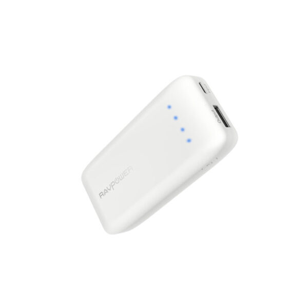 RAVPower Ace Series 6700 mAh powerbank, Hvid